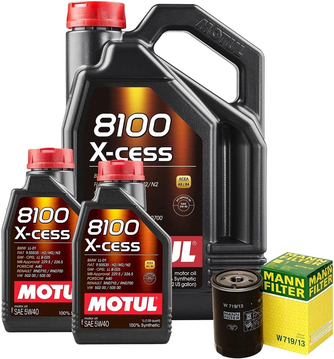 7L 8100 X-CESS 5W40 Filter Engine Oil Motor Credence W124 Department store 300E Change kit