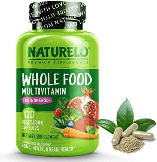 NATURELO Whole Food Multivitamin for Women 50+ (Iron Free) Natural Vitamins, Mineracls, Raw Organi Extracts...
