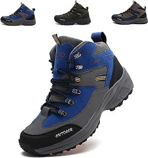 [LSGEGO] トレッキングシューズ メンズ 防水 防滑 ハイキングシューズ アウトドア キャンプ シュー ズ 軽量 耐磨耗 登山靴 メンズ ハイキングブーツ 通気性 ウォーキングシューズ