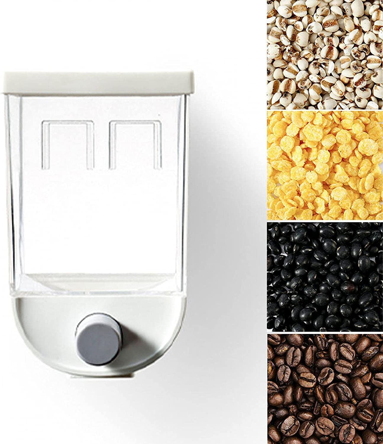 Spring new work Wall-mounted Cereal Under blast sales Container Dispenser Food Containers Storage