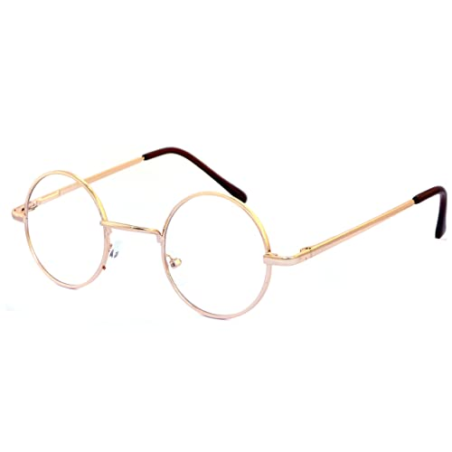 4e21ef7baf03 KIDS Children Small Round Metal Clear Lens Eye Glasses (Age 3-10)