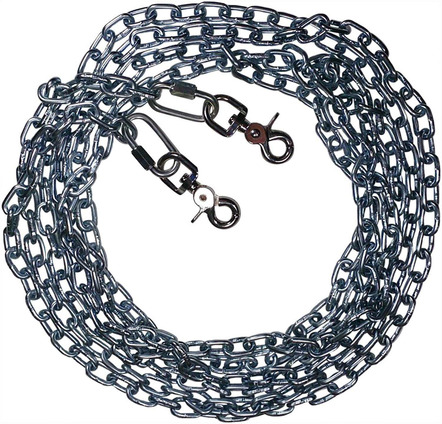 BeastMaster Straight Link TieOut Chain with Trigger Snaps Medium Dogs (10 FT)