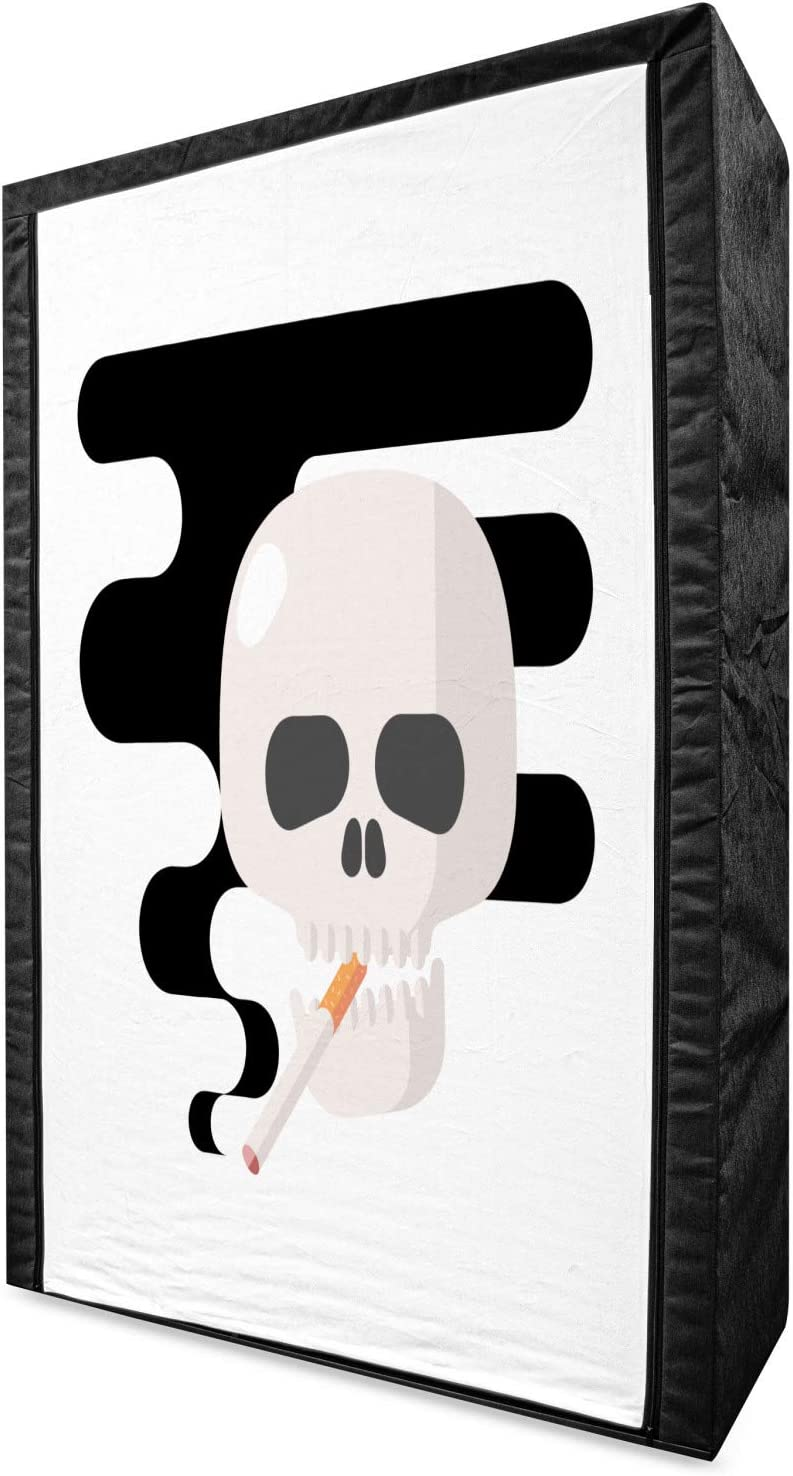 Ambesonne Challenge the lowest price of Japan ☆ Skull Smoking Portable S Fashionable Fabric Wardrobe Illustration
