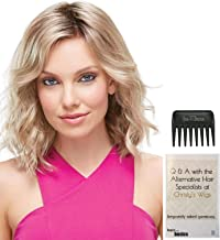 Bundle - 3 Items: Scarlett Wig by Jon Renau, Christy's Wigs Q & A Booklet, and Jon Renau Wide Tooth Comb - Color: 1B