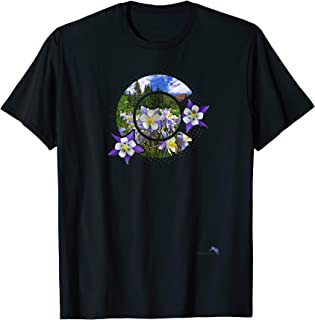 Colorado Columbines T-shirt - Rocky Mountain Wildflower