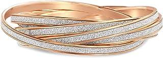 Steve Madden Glitter Design Interlocking Bangle Bracelet For Women