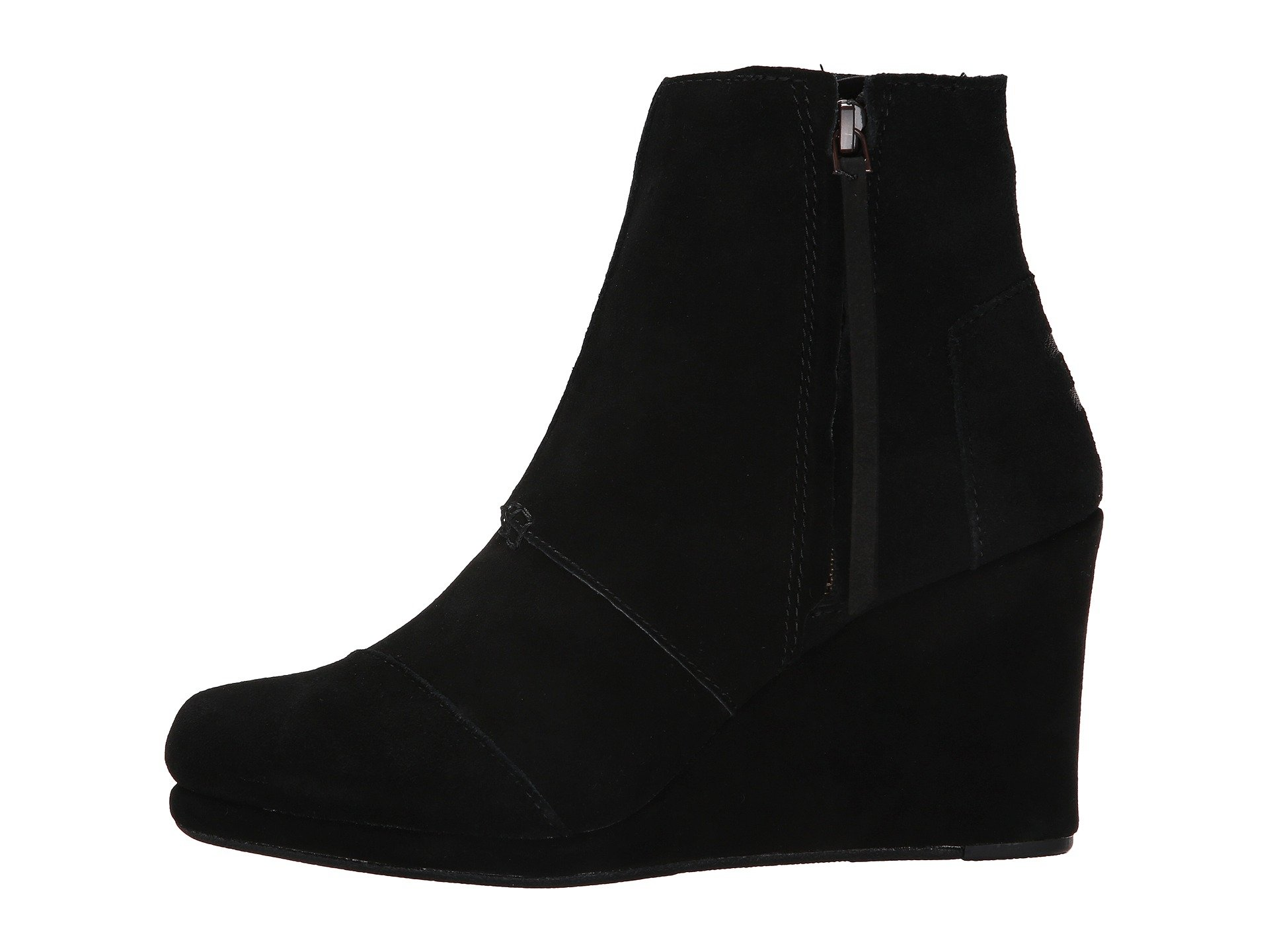 Toms Black Desert Wedge High Shoes