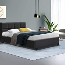 King Single Bed Frame Fabric Bed Base, Charcoal