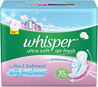 Whisper Ultra Soft Sanitary Pads Extra Large - 50 Count (Offer Pack)