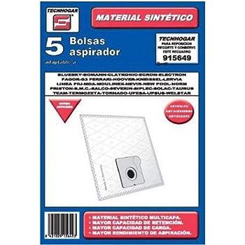 Tecnhogar 915742 Bolsa aspirador, Blanco: Amazon.es: Hogar