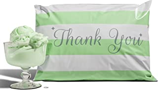 10x13 Pack of 100 Mint Chocolate Chip Reusable Poly Mailers Eco-Friendly Green Thank You Reusable Double Use Seal Pull Tab Designer Boutique Durable a la Mode