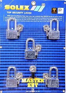 طقم مفتاح ماستر من 5 قطع من الكروم بتصميم طويل 40 ملم من سوليكس
