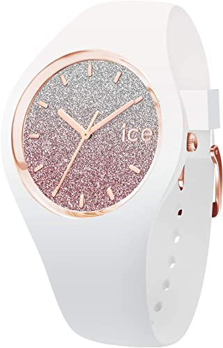 Ice-Watch - ICE lo White pink - Montre blanche pour femme avec bracelet en silicone