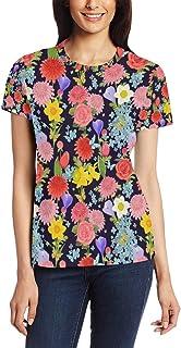XiangHeFu T-shirt voor vrouwen meisjes prachtige bloem veld aangepaste korte mouw