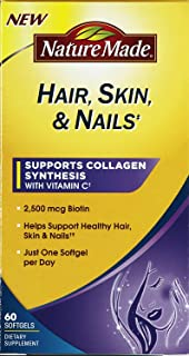 Nature Made Dietary Supplement Hair, Skin & Nails, 60 ct (Pack of 3)
