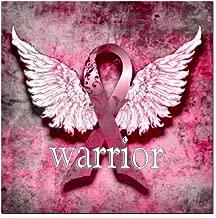 CafePress - Pink Ribbon Warrior by V Square Car Magnet 3