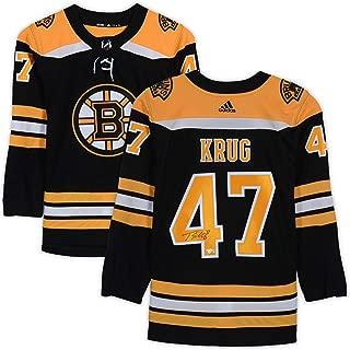 Torey Krug Boston Bruins Autographed Black Adidas Authentic Jersey - Fanatics Authentic Certified - Autographed NHL Jerseys