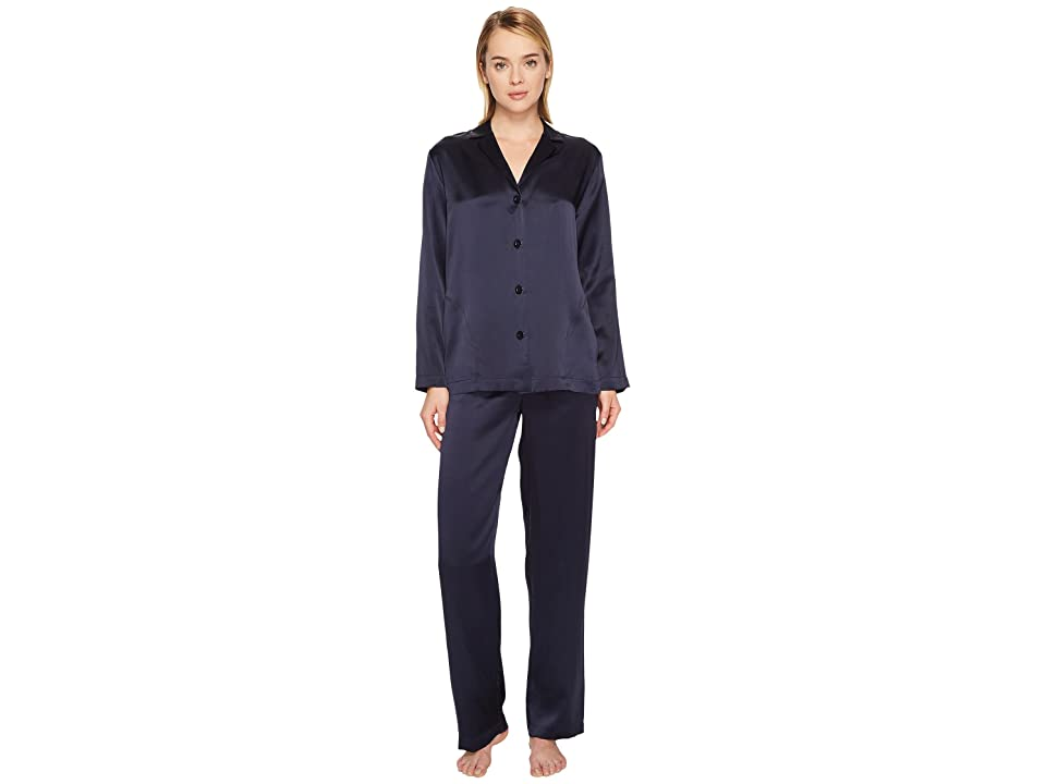 La Perla Silk Pajama (Midnight Blue) Women