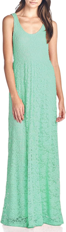 Beachcoco Women's Long Length Sleeveless Lace Dress