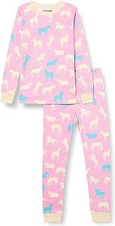 Hatley Long Sleeve Appliqu/é Pajama Set Juego de Pijama para Ni/ños