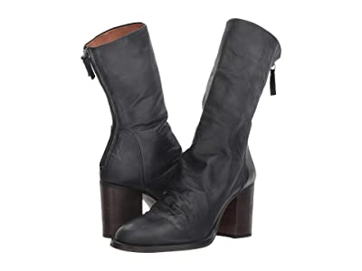 Free People Elle Block Heel Boot (Black) Women