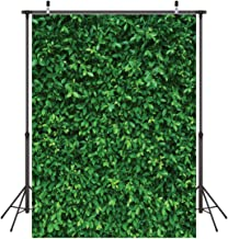 LYWYGG 5x7FT Green Leaves Photography Backdrops Mmicrofiber Nature Backdrop Birthday Background for Birthday Party Seamless Photo Booth Prop Backdrop CP-87