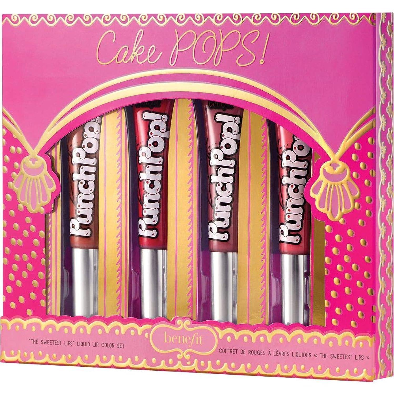 寛大さ格差クラシック[Benefit] ケーキポップに利益をもたらします!かわいい&ピンクパンチポップ!贈り物は4×7ミリリットルを設定しました - Benefit Cake POPS! Pretty & Pink Punch Pop! Gift Set 4 x 7ml [並行輸入品]