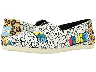 TOMS Venice Collection Alpargata 3.0 (Bubble Graffiti Printed Canvas) Women