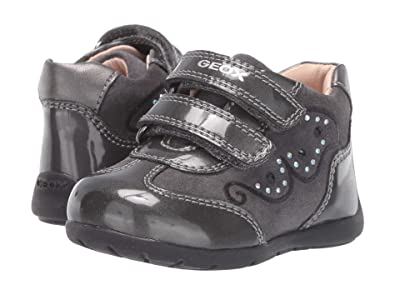 Geox Kids Kaytan 60 (Infant/Toddler) (Black/Charcoal 2) Girls Shoes