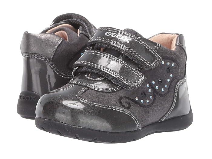 Geox Kids  Kaytan 60 (Infant/Toddler) (Black/Charcoal 2) Girls Shoes