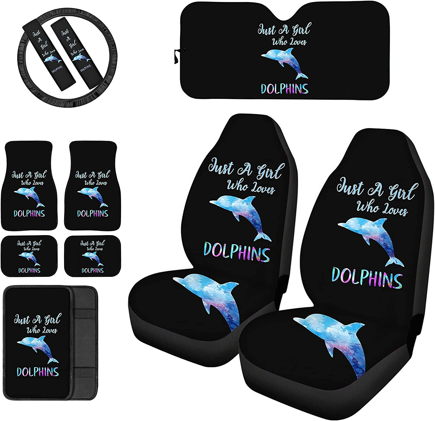 Frestree Just Bargain a Girl Who Loves Full Seat Car Dolphins Phoenix Mall Covers Set