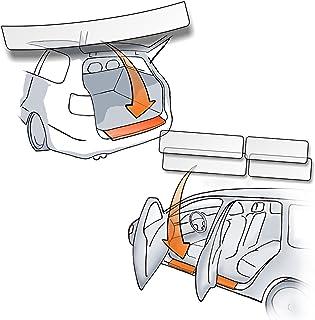 Lackschutzshop   Passform Lackschutzfolie im Set für Ladekantenschutz und alle Einstiegsleisten/Türeinstiege transparent 150µm   Lackschutz passgenau für Fahrzeugtyp Siehe Beschreibung