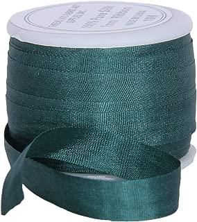 Threadart 100% Pure Silk Ribbon - 7mm Teal Green - No. 617-3 Sizes - 50 Colors