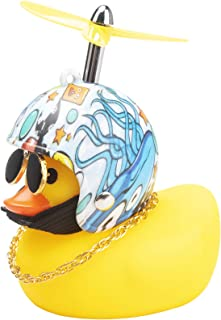 wonuu Rubber Duck Car Decorations Cute Yellow Duck Car Dashboard Ornaments with Propeller (Underwater World)
