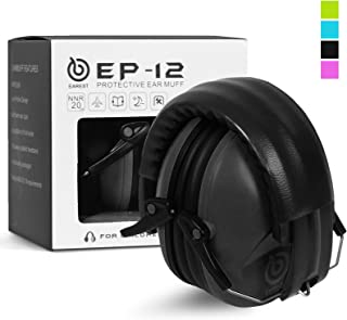 EAREST Hearing Protection Ear Muffs, NRR 20dB Professional Noise Reduction Safety Earmuff/Ear Defenders/Ear Protector for Shooting/Hunting/Yard Working Fits Adults to Kids