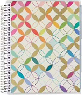 Erin Condren Daily Family Planner - Metallic Mid Century Circles, 7x9, Non-dated Daily Organizer Features Three Months of ...