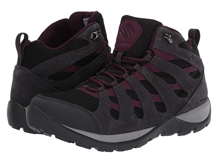 Columbia  Redmondtm V2 Mid Waterproof (Black/Black Cherry) Womens Hiking Boots