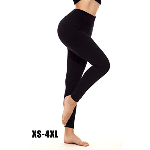 eb62b5c3b25a7 YOHOYOHA Plus Size Yoga Pants Petite Thick Long Workout Tights Best  Compression Leggings