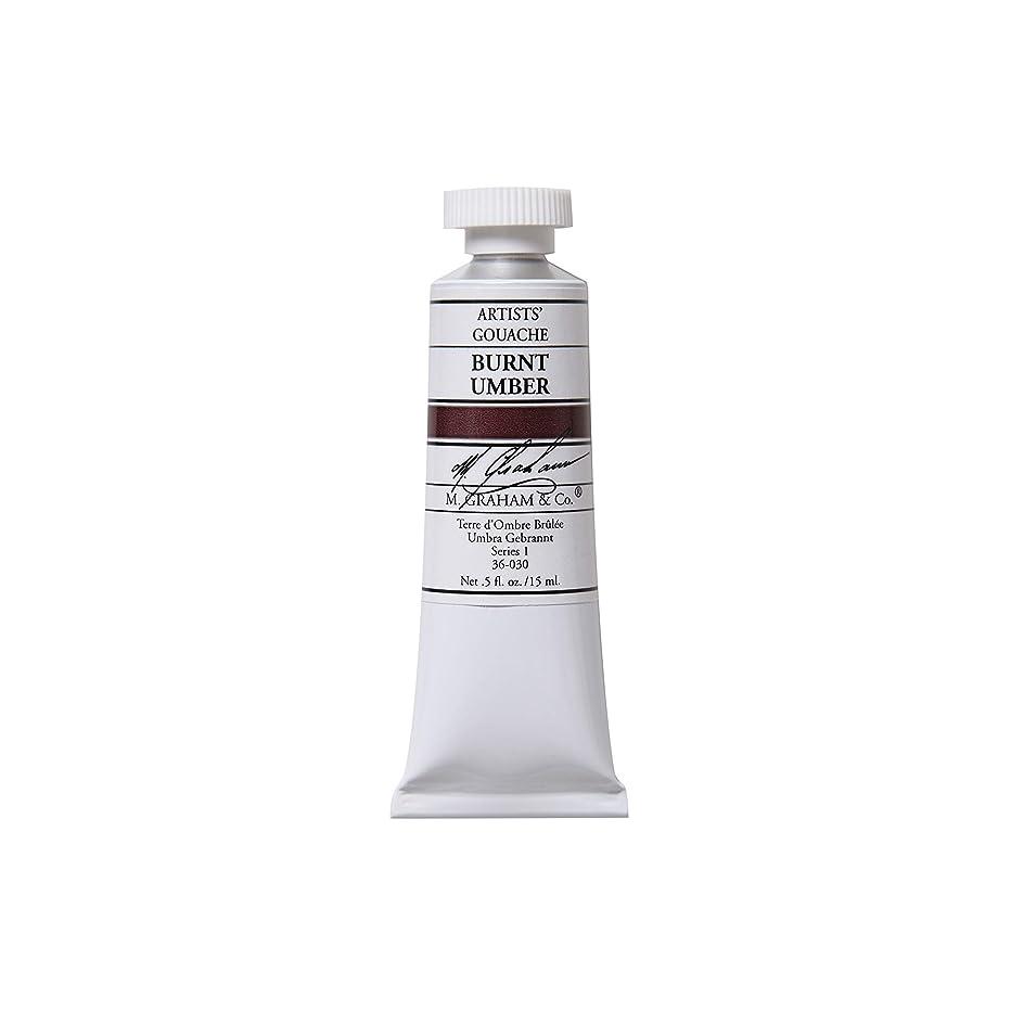 M. Graham 1/2-Ounce Tube Gouache Paint, Burnt Umber