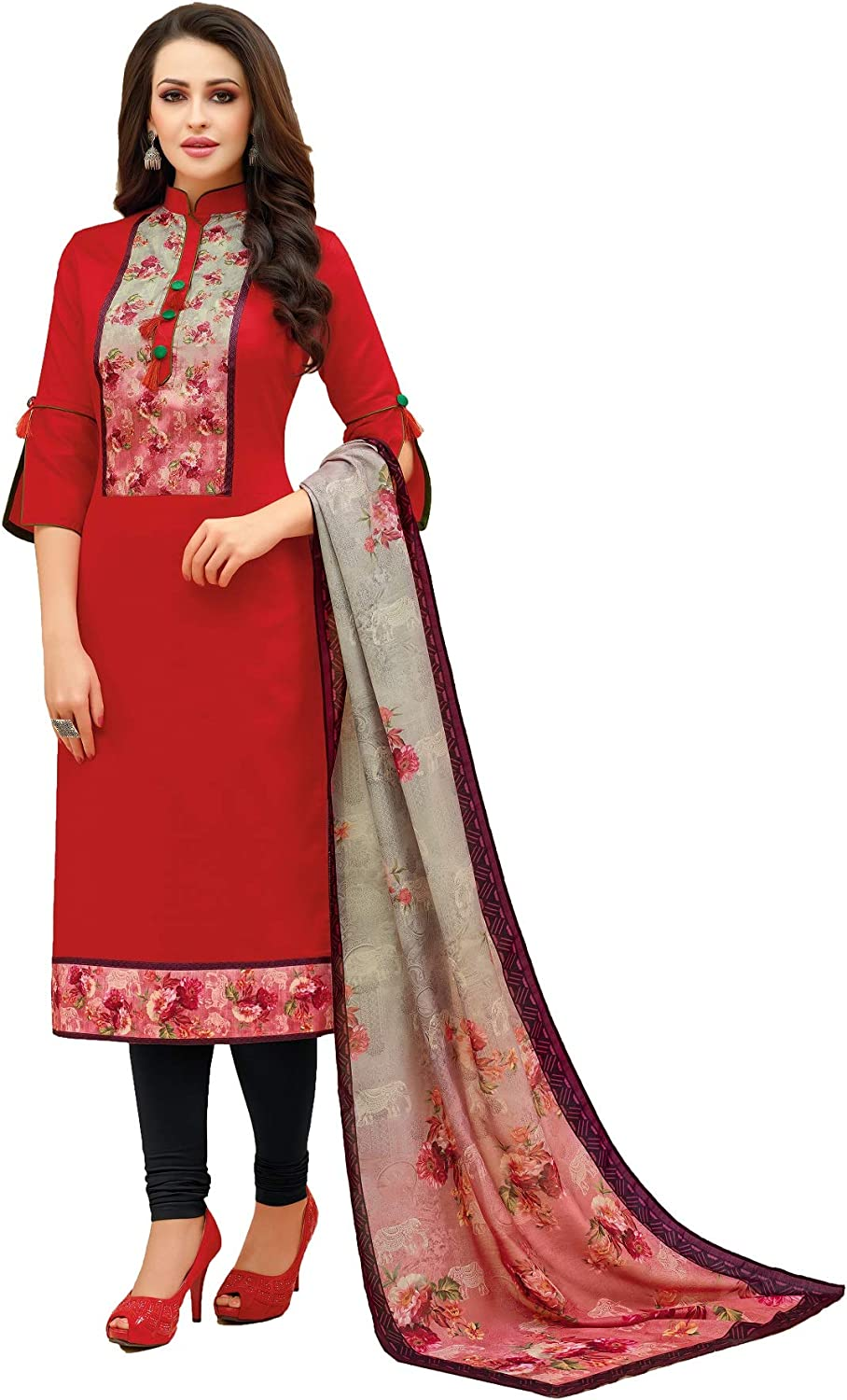 Ready To Wear Ethnic Indian Designer Straight Salwar Suit For Women Dress