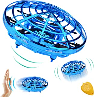 Hand Operated Drone, RC Flying Toys Drone for Kids, Flying Ball Helicopter Mini Drone, Hand Controlled Quadcopter Light Up Flying Toys, 360°Rotating Helicopter Outdoor Toys Gifts for Boys and Girls