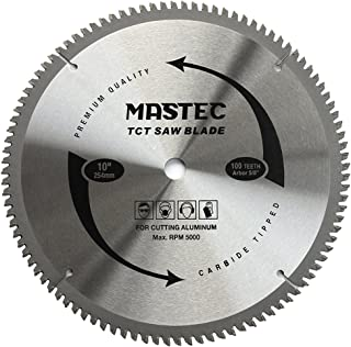 MASTEC 10-Inch 100T Carbide Tooth TCG for Aluminum Saw Blade with 5/8-Inch Arbor