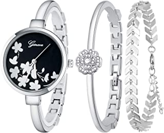 JUMJEE Dress Bracelet Watches for Women Casual Quartz Bangle Wrist Watch Set