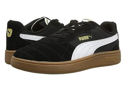 Puma Kids Astro Kick Slip-On (Little Kid) (Puma Black/Puma White/Puma Team Gold 1) Kids Shoes