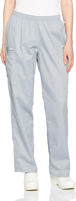 Cherokee Womens Ww Flex W Certainty Midrise Straight Leg Elastic Waist Pant Medical Scrubs Pants