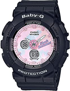 Casio Womens Quartz Watch, Analog-Digital Display and Resin Strap BA-120T-1ADR
