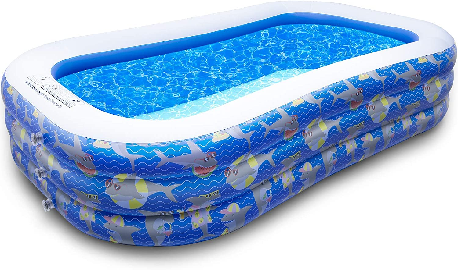 Decorlife Fees free!! Cute New sales Inflatable Pool Durable Swimming for Adul 2
