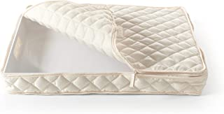 Covermates – Rectangular Platter Storage 19L x 16W x 3H – Diamond Collection – 2 YR Warranty – Year Around Protection - Cream