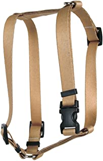 "Yellow Dog Design Tan Simple Solid Roman Style H Dog Harness-X-Large-1"" and fits Chest 28 to 36"""
