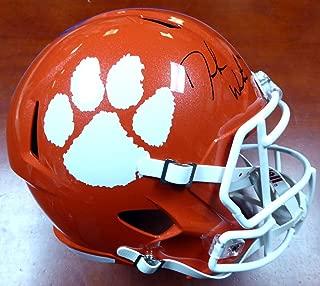 DeShaun Watson Autographed Clemson Tigers Orange Speed Full Size Replica Helmet BAS